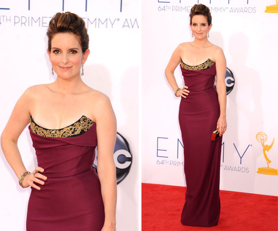Tina Fey at the Emmys 2012