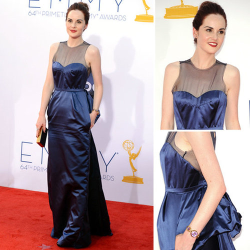 Pictures of Downton Abbey Star Michelle Dockery in Louis Vuitton Gown on the red carpet at the 2012 Emmy Awards