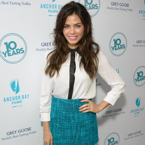 Jenna Dewan Wearing Tweed Skirt