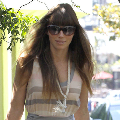 Jessica Biel Cat-Eye Sunglasses