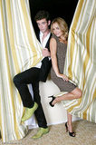 Michael Urie reunited with his Ugly Betty costar Becki Newton. Source: Michael Urie on Who Say