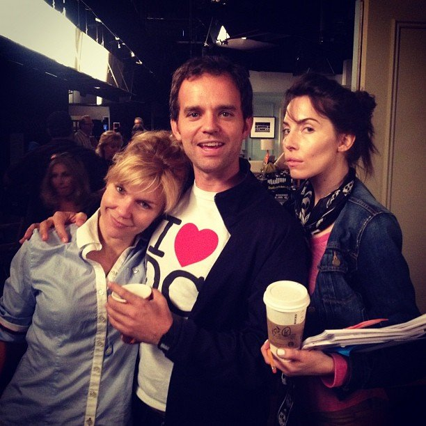 Chris D'Elia caught the cast and crew of Whitney backstage. Source: Instagram user chrisdelia