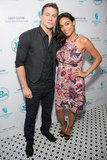 Channing Tatum posed with Rosario Dawson at their 10 Years brunch, hosted by Grey Goose.