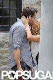 Newlyweds Blake Lively and Ryan Reynolds kissed in Charleston.  Source: Alex Gutierrez