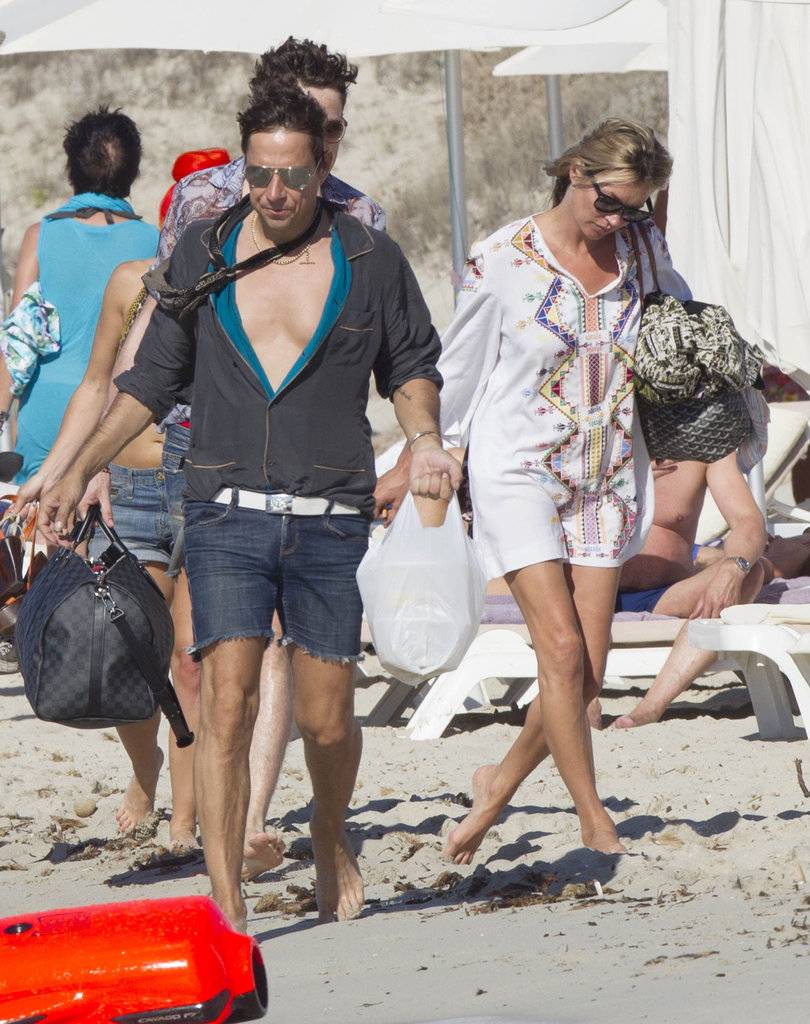 Kate Moss and Jamie Hince hit the beach in Ibiza.