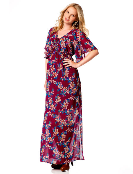 Short-Sleeve Uneven Hem Maternity Dress ($69)