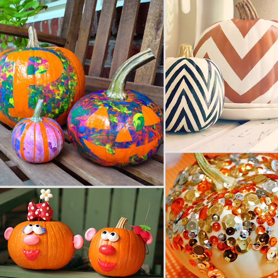 Painted pumpkin ideas for halloween Easy pumpkin painting patterns