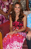 The Duchess bought her dress from a local shop in the Solomon Islands.