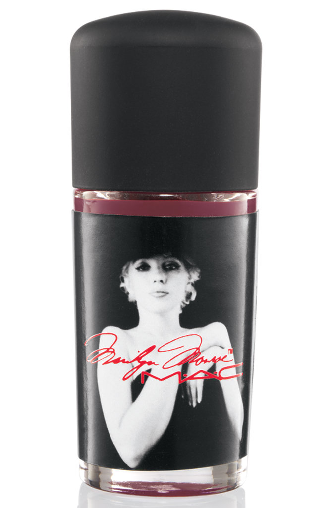 Nail Lacquer in Stage Red, a dark berry red cream ($18)