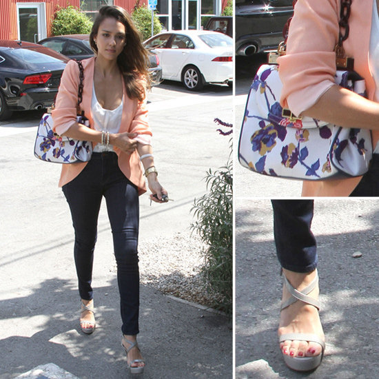 Jessica Alba's Floral Tory Burch