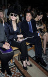 Kim Cattrall, Bryan Ferry, and Kelly Brook were in the Philip Treacy front row.