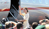 Kate Middleton boarded a jet headed for Tuvalu.