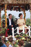 Prince William and Kate took in the scene in Tuvalu.