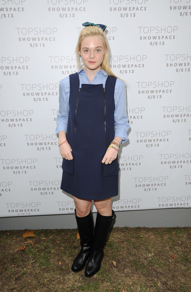 Elle Fanning was front row for the Unique show.
