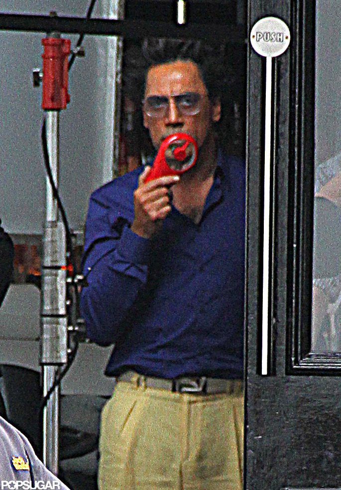 Javier Bardem shot The Counselor in NYC.