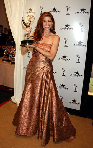 Debra Messing posed with her statue in 2003.