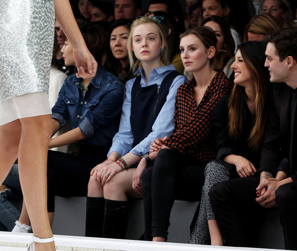 Elle Fanning went to LFW.