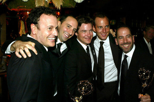 Arrested Development pals Tony Hale, Jason Bateman, and Will Arnett shared a hug in 2004.
