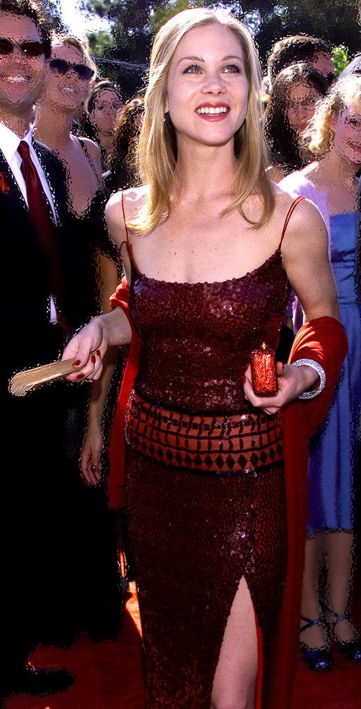 Christina Applegate dazzled in a jewel-toned dress in 1999.