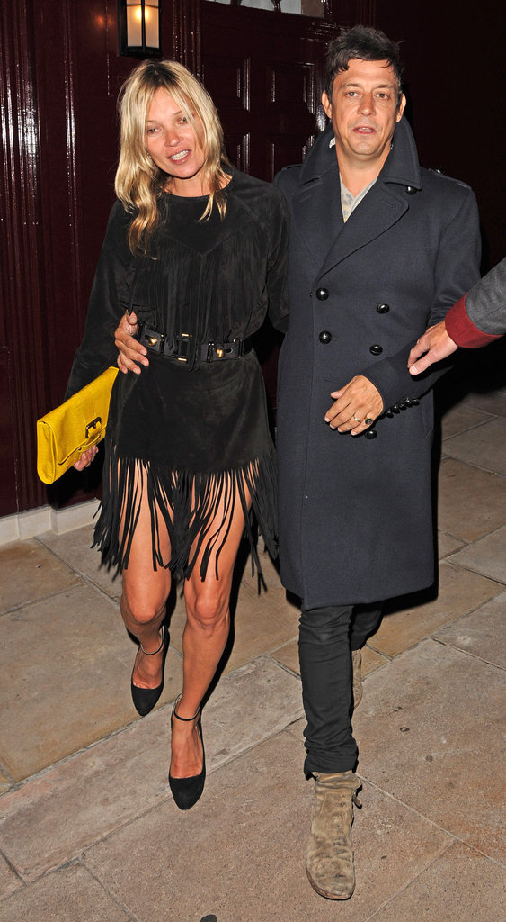 Jamie Hince and Kate Moss partied in London.