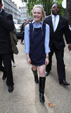 Elle Fanning checked out London Fashion Week.