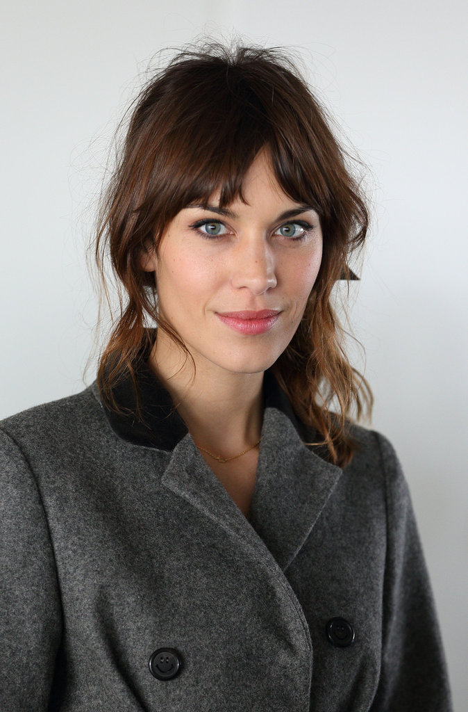 Alexa Chung posed at Christopher Kane during London Fashion Week.