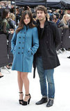 Julia Restoin Roitfeld and Robert Konjic at Burberry