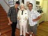 Alexander Ludwig hung out with Colonel Sanders and his Grown Ups 2 producer Jack Giarraputo on their Massachusetts set. Source: Twitter user alexanderludwig