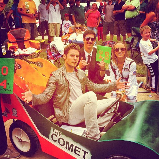 Josh Henderson tried out a new form of transportation. Source: Instagram user joshhendu