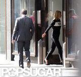 Kate Moss walked inside a building in London.