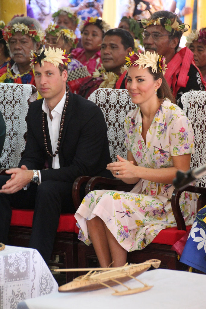 Prince William and Kate Middleton were treated to a goodbye ceremony in Tuvalu.