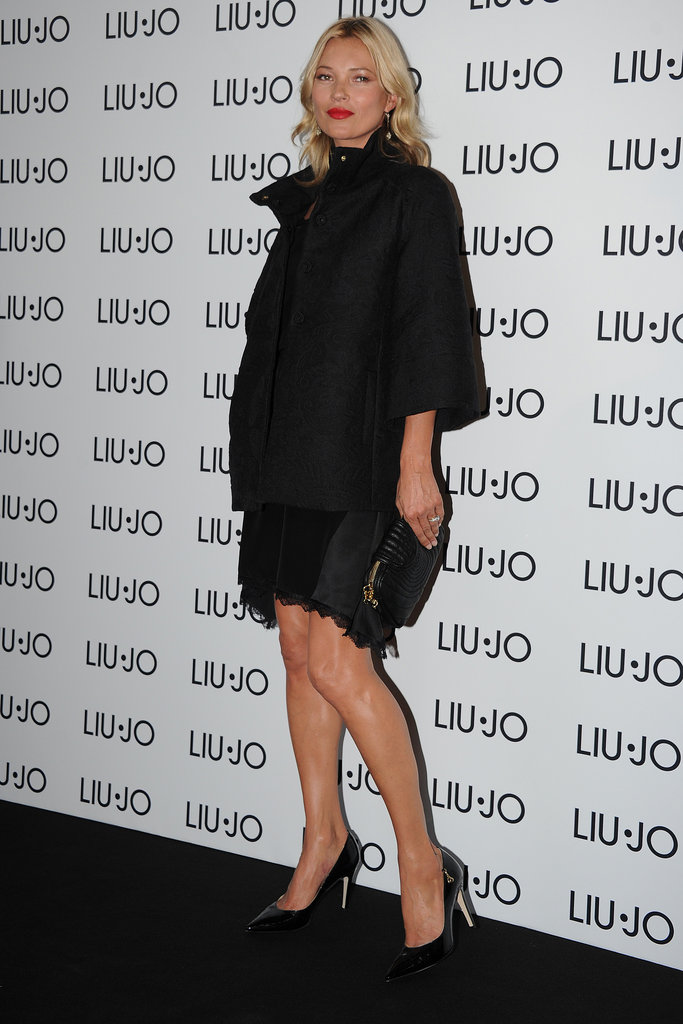 Kate Moss went to Milan for a Liu Jo party.