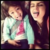 Ariel Winter played around with her younger costar.  Source: Instagram user arielwinter