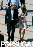Kate Middleton and Prince William arrived in Australia.