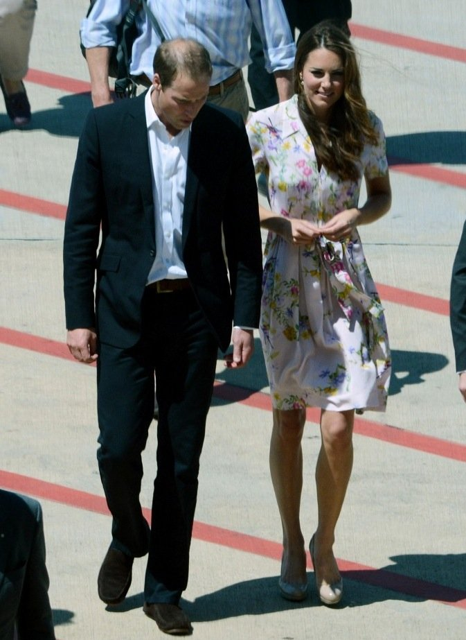 For her parting look, Kate Middleton chose one of Dannii Minogue's Spring '12 dresses. This particular clothing line is also a favorite of Pippa Middleton's!