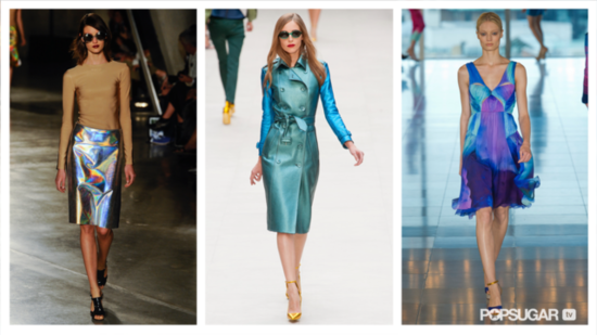 Iridescent, Printed Pieces Dominate London Fashion Week — See Our Trend Report