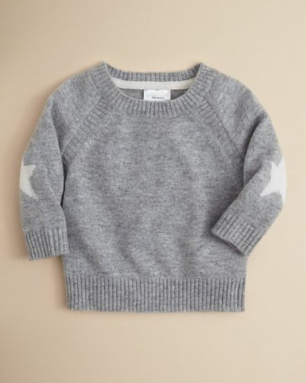 Bloomie&#039;s Cashmere Star Patch Sweater ($90)
