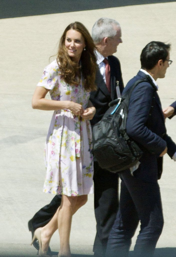 For her flight home via Brisbane Airport, Kate wore a Project D Penelope dress.