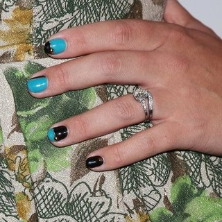 Busy Philipps and Her Two Tone Nail Art Manicure Get the Look At Home