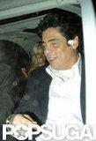 Benicio Del Toro went clubbing in London.