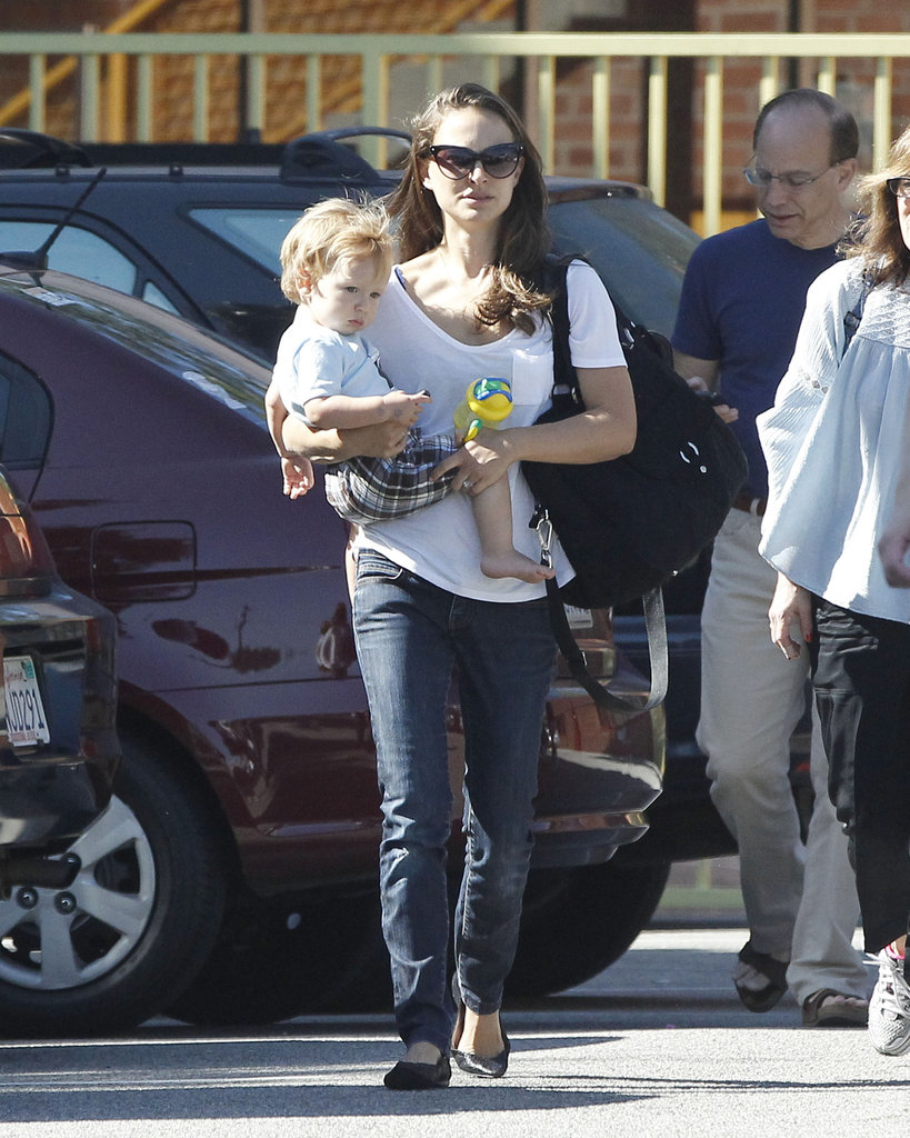 Natalie Portman carried Aleph Millepied in LA.