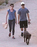 Anne Hathaway went for a hike.