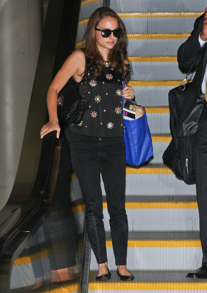 Natalie Portman arrived in LA.