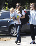 Natalie Portman and Aleph Millepied ran errands in LA.