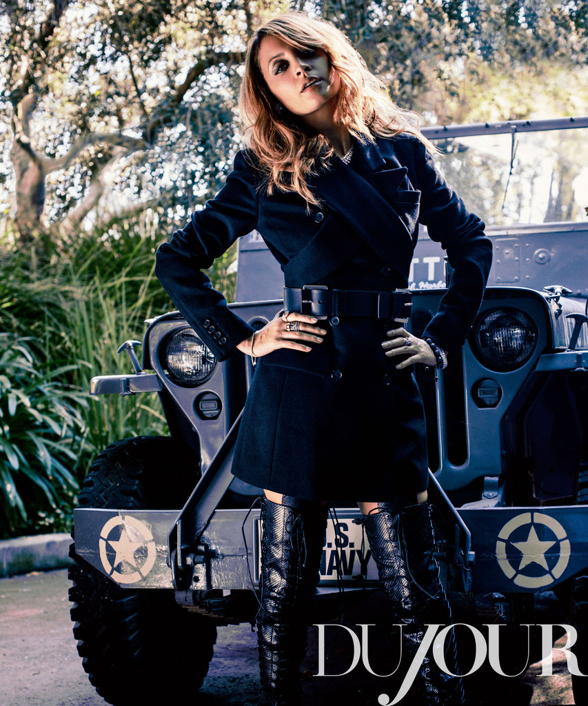 Nicole Richie struck a pose for DuJour.
