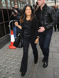 Salma Hayek's All Smiles During a London Layover