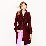 A gorgeous merlot-hued cashmere coat.  J.Crew Wool Cashmere Icon Trench ($325)