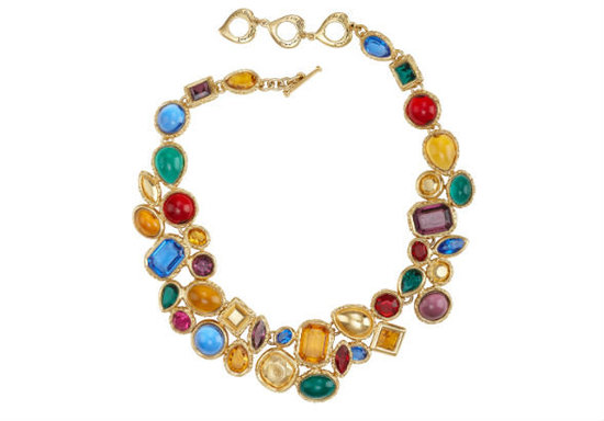 1980s Yves Saint Laurent Necklace With Brightly Colored Cabochons ($2,000)