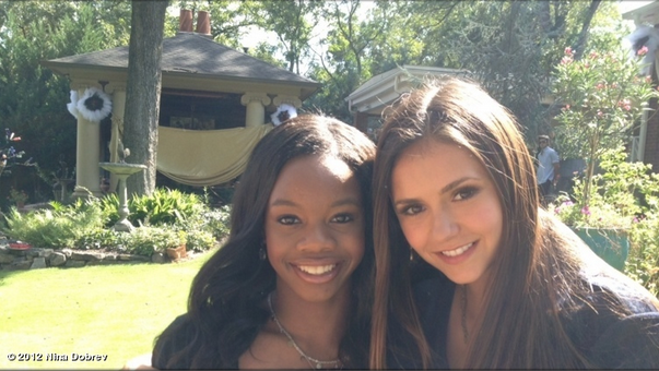 Gabby Douglas got to meet one of her favorite celebrities, Nina Dobrev. Source: Nina Dobrev on WhoSay