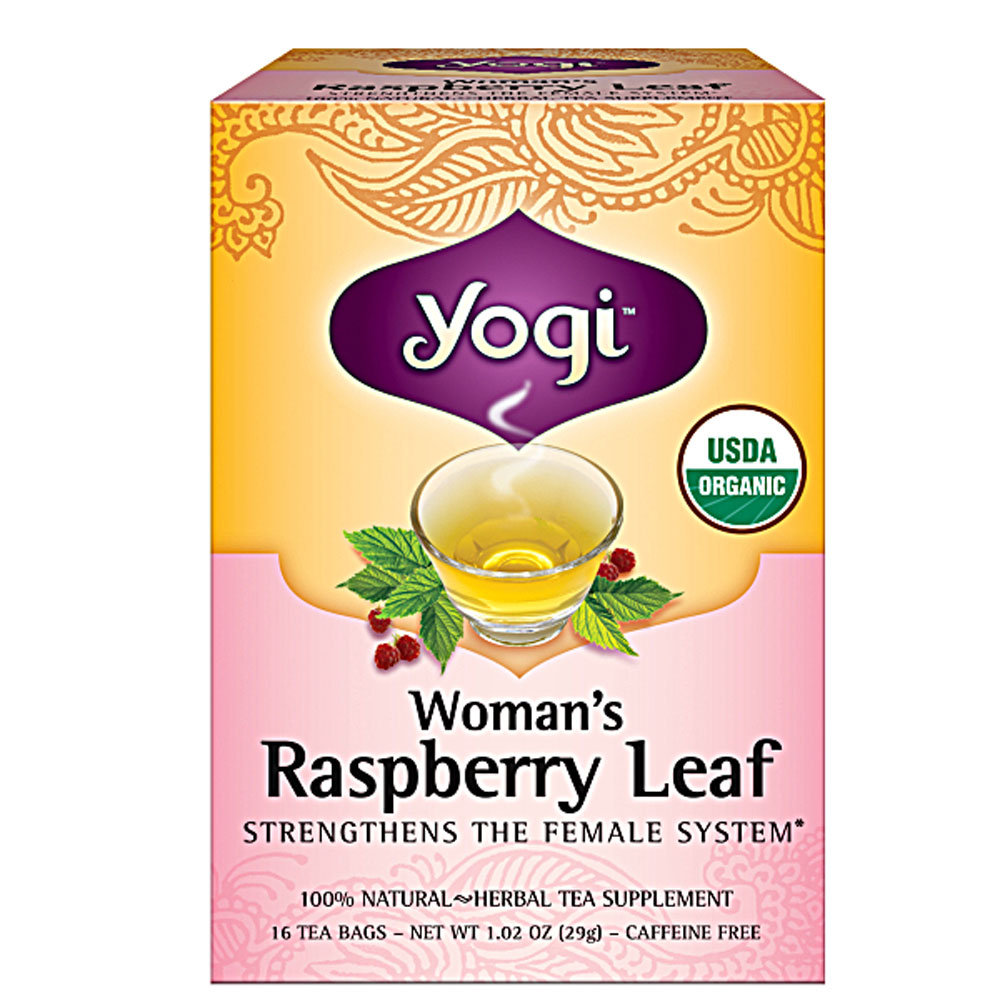 Yogi Women's Raspberry Leaf Tea ($6)